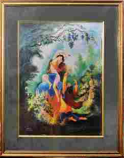 Persian Hafez lyrical miniature painting by Cyrus Sadat