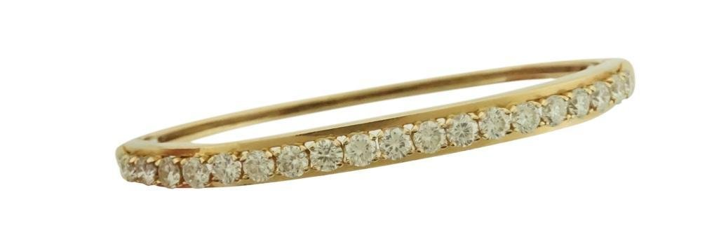 14k Gold and Diamond Bangle Bracelet