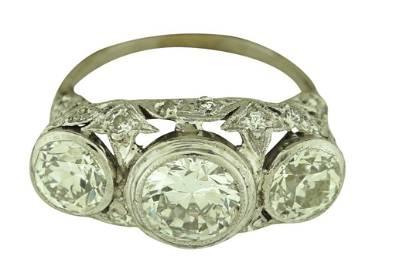 Ladies Antique Style Art Deco Platinum and Old European