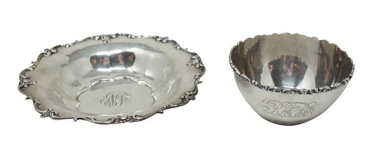 Round Sterling Candy Dishes 2 pieces total
