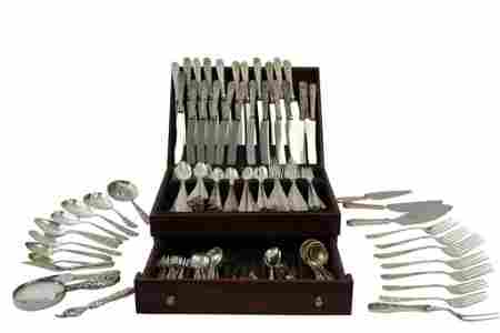 S. Kirk and Son Sterling Repousse Flatware Set