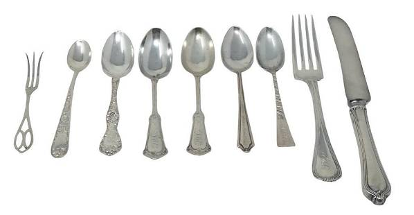 Assorted Sterling Silver Utensils 9 pieces total