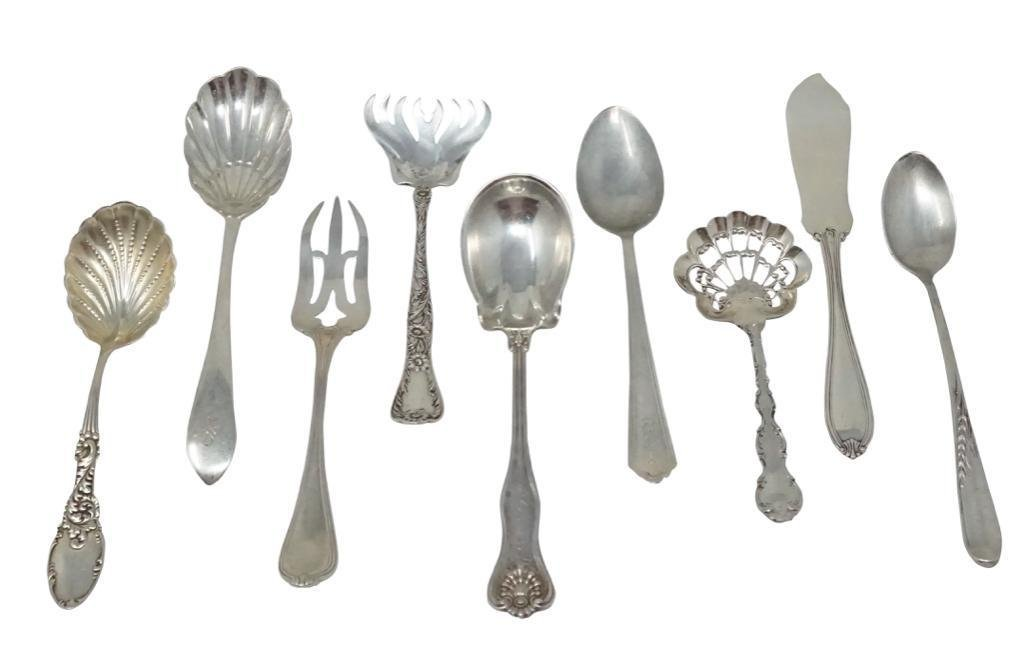 Group of Sterling Silver Serving Pieces [9 pieces