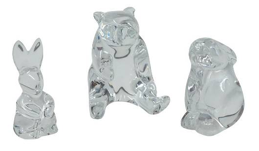 Baccarat Crystal Animals 3 total
