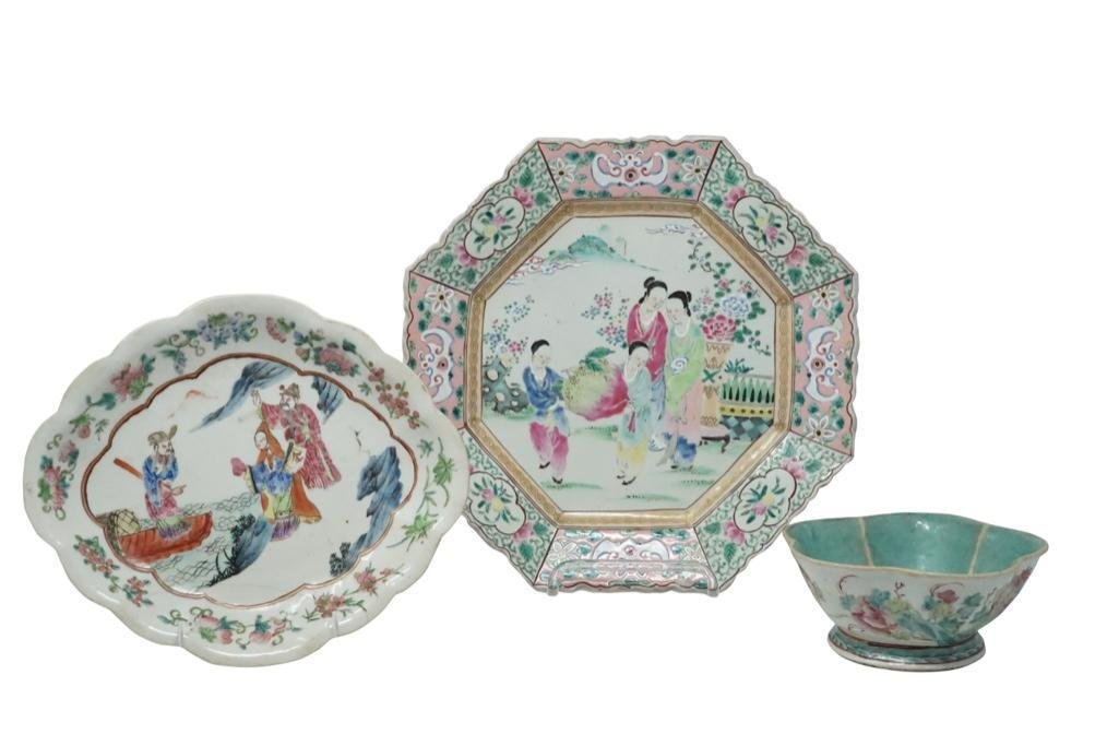 Chinese Export Porcelain Bowls [3 total]