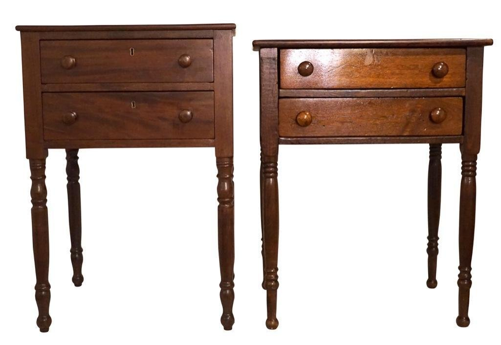Two American Carved Side Tables