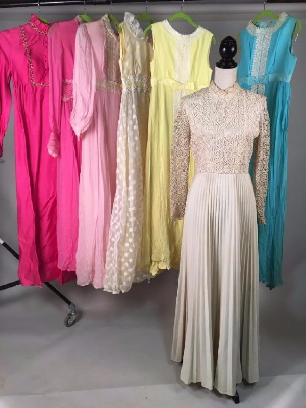 Collection Of Pastel Dresses 1970's