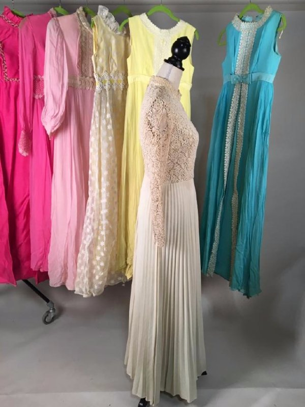 Collection Of Pastel Dresses 1970's - 3