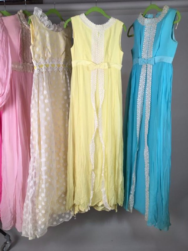 Collection Of Pastel Dresses 1970's - 5