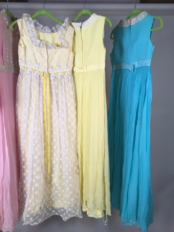 Collection Of Pastel Dresses 1970's - 6