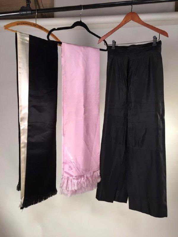 Silk Scarves And Satin Skirt