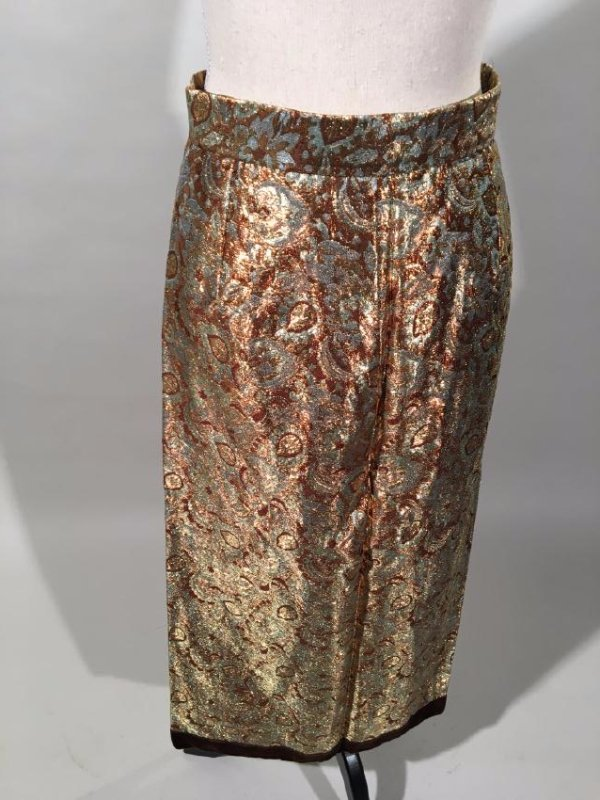 2 Lame' Skirts, Velvet Trim - 9