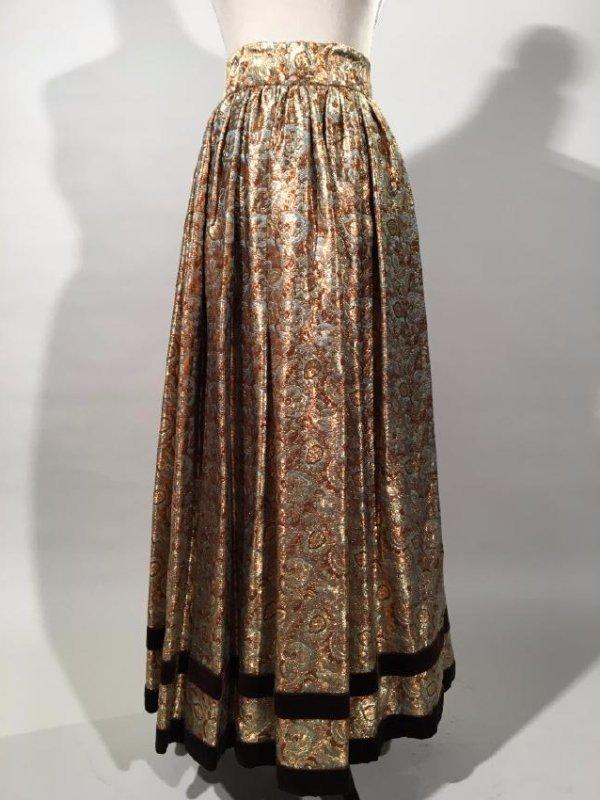 2 Lame' Skirts, Velvet Trim