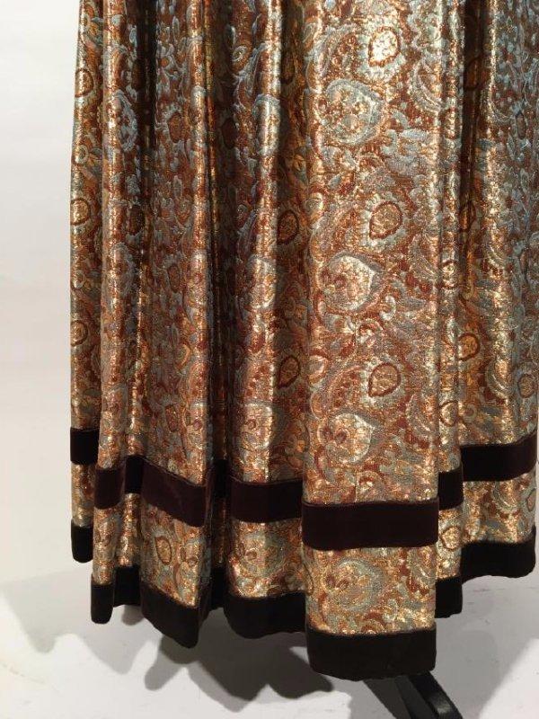 2 Lame' Skirts, Velvet Trim - 2