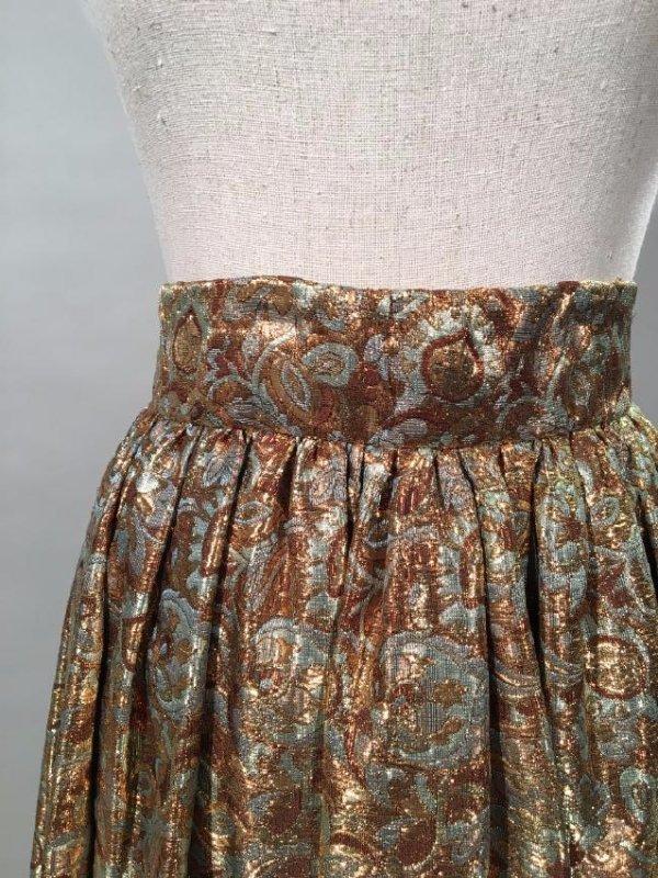2 Lame' Skirts, Velvet Trim - 3