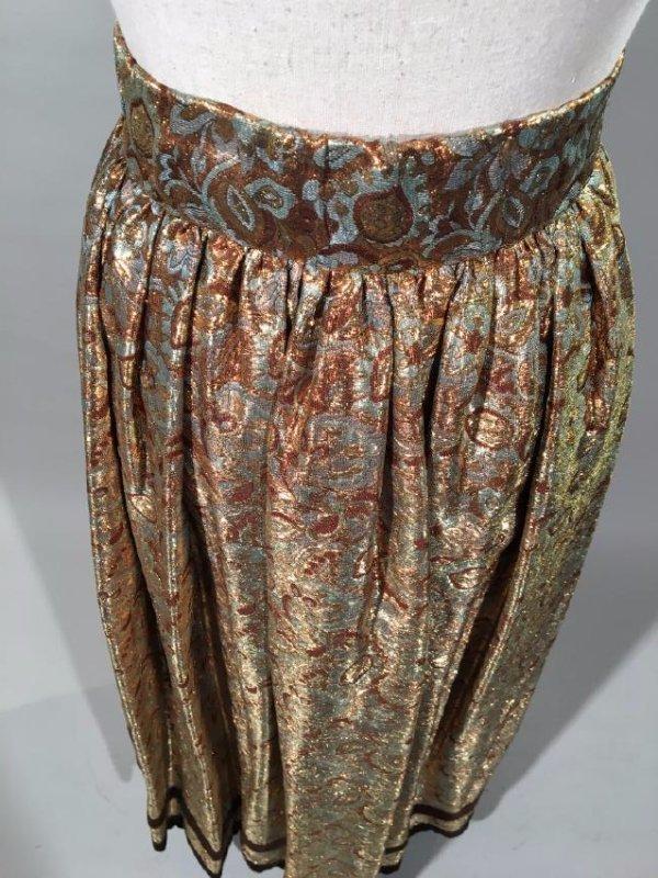 2 Lame' Skirts, Velvet Trim - 4