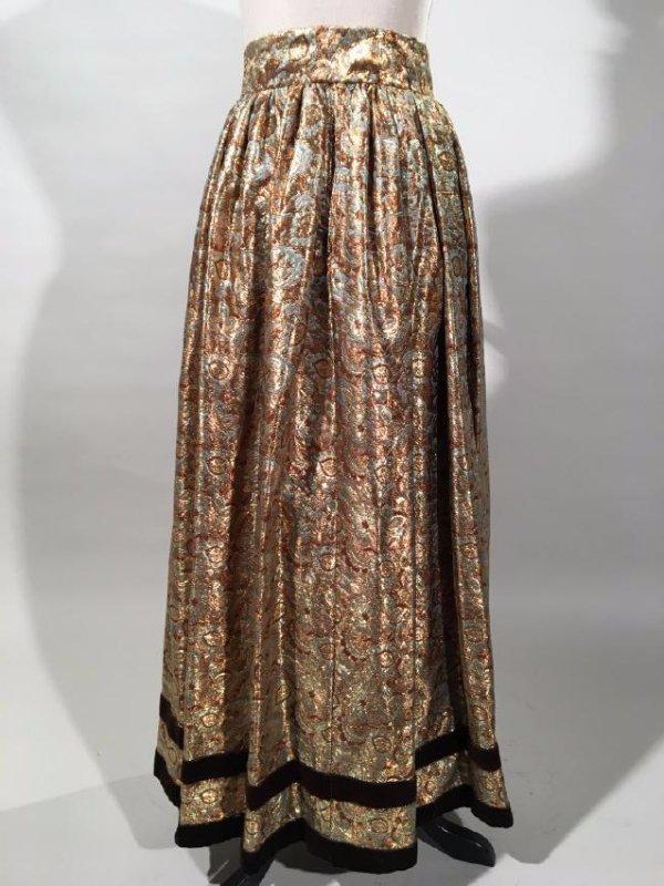2 Lame' Skirts, Velvet Trim - 5