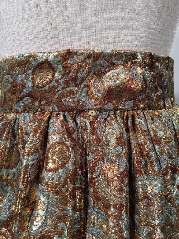 2 Lame' Skirts, Velvet Trim - 6