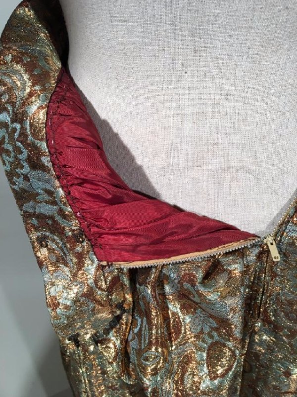 2 Lame' Skirts, Velvet Trim - 7