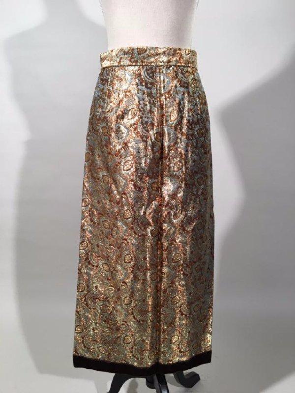 2 Lame' Skirts, Velvet Trim - 8
