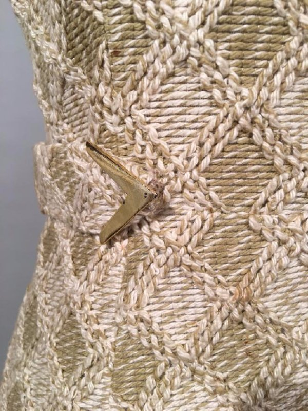 Tan Knit Dress With Lynx Trim - 5