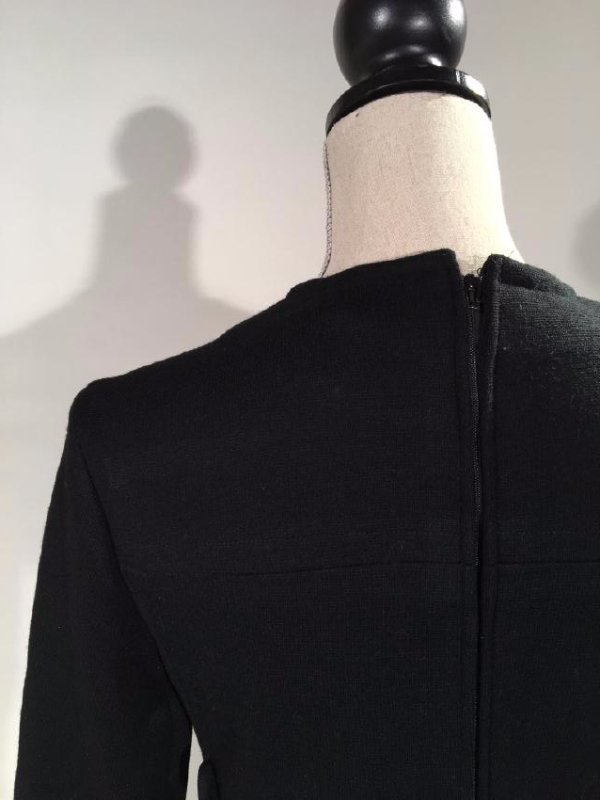 Black Dress With Persian Lamb Trim - 10