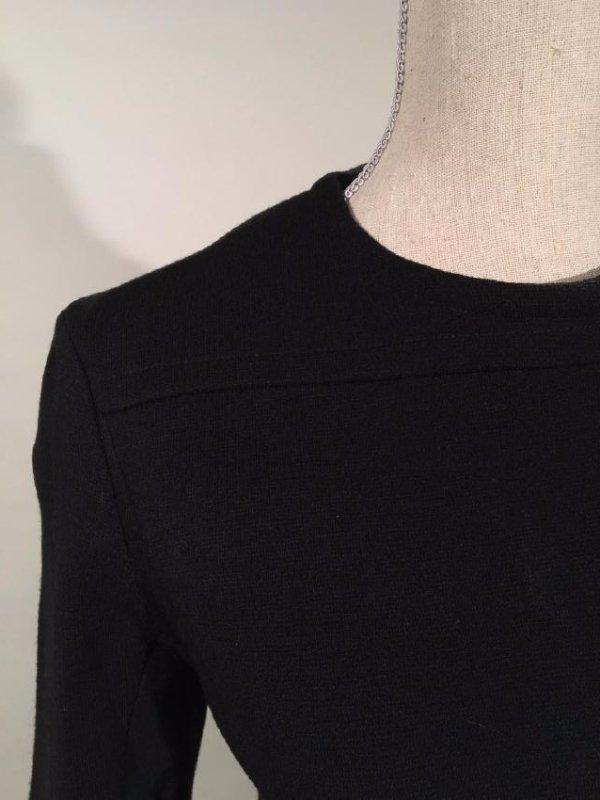 Black Dress With Persian Lamb Trim - 2