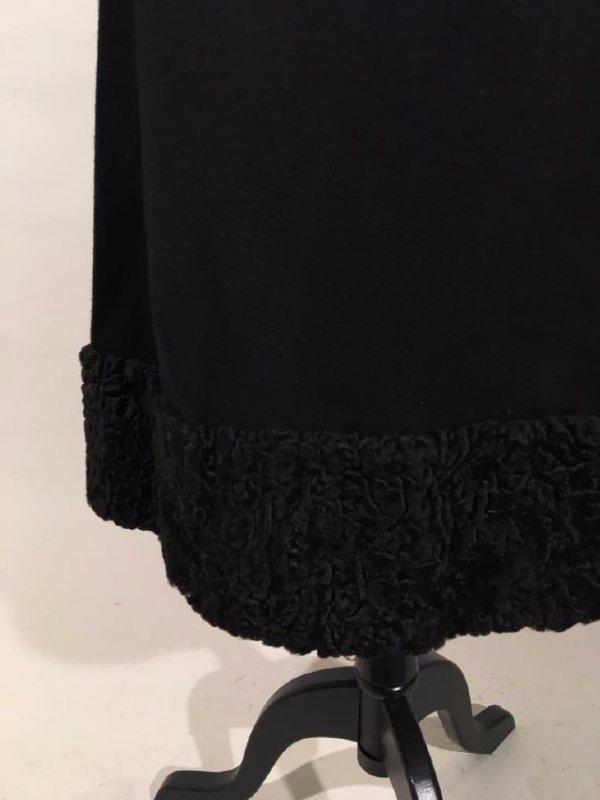 Black Dress With Persian Lamb Trim - 4
