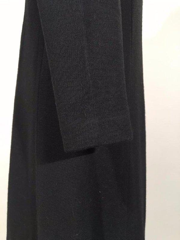 Black Dress With Persian Lamb Trim - 7