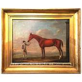 """18th C. Horse Portrait, """"Vertumnus"""" By Sartorius"""