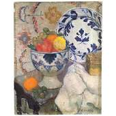 """Still Life Painting, Signed """"C. Curtis"""", 19th C."""