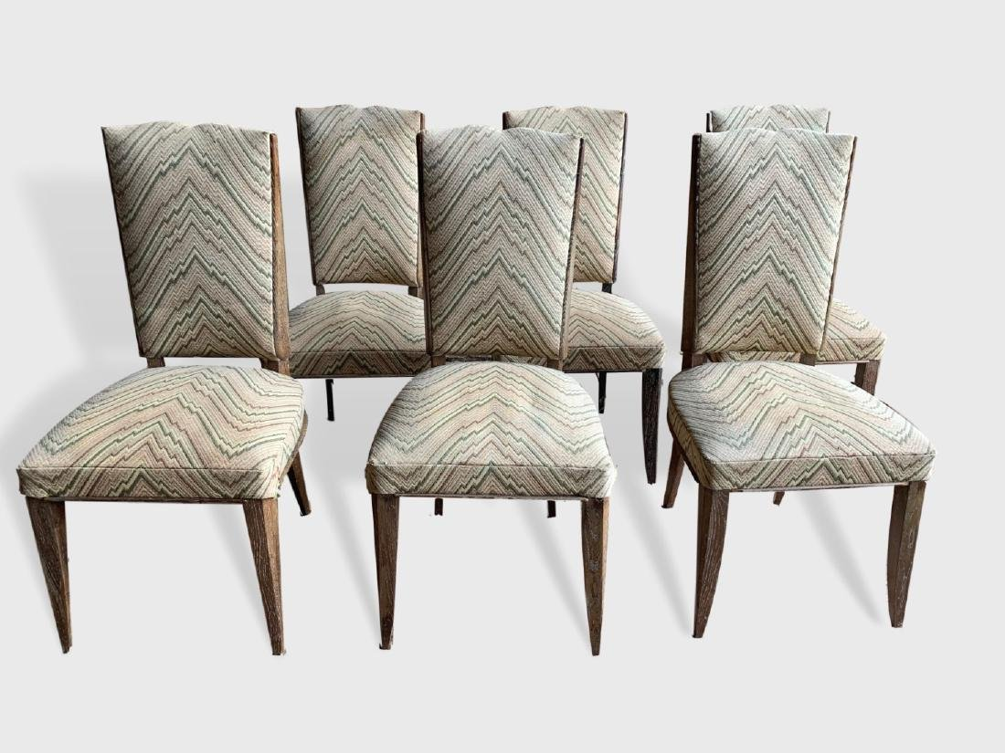 Set Of 6 Arbus Style Dining Chairs
