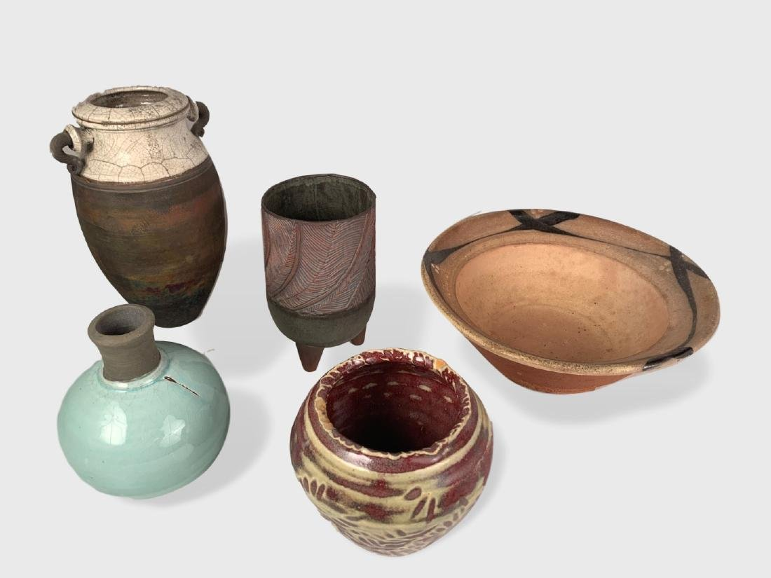 5 Pieces Of Art Pottery
