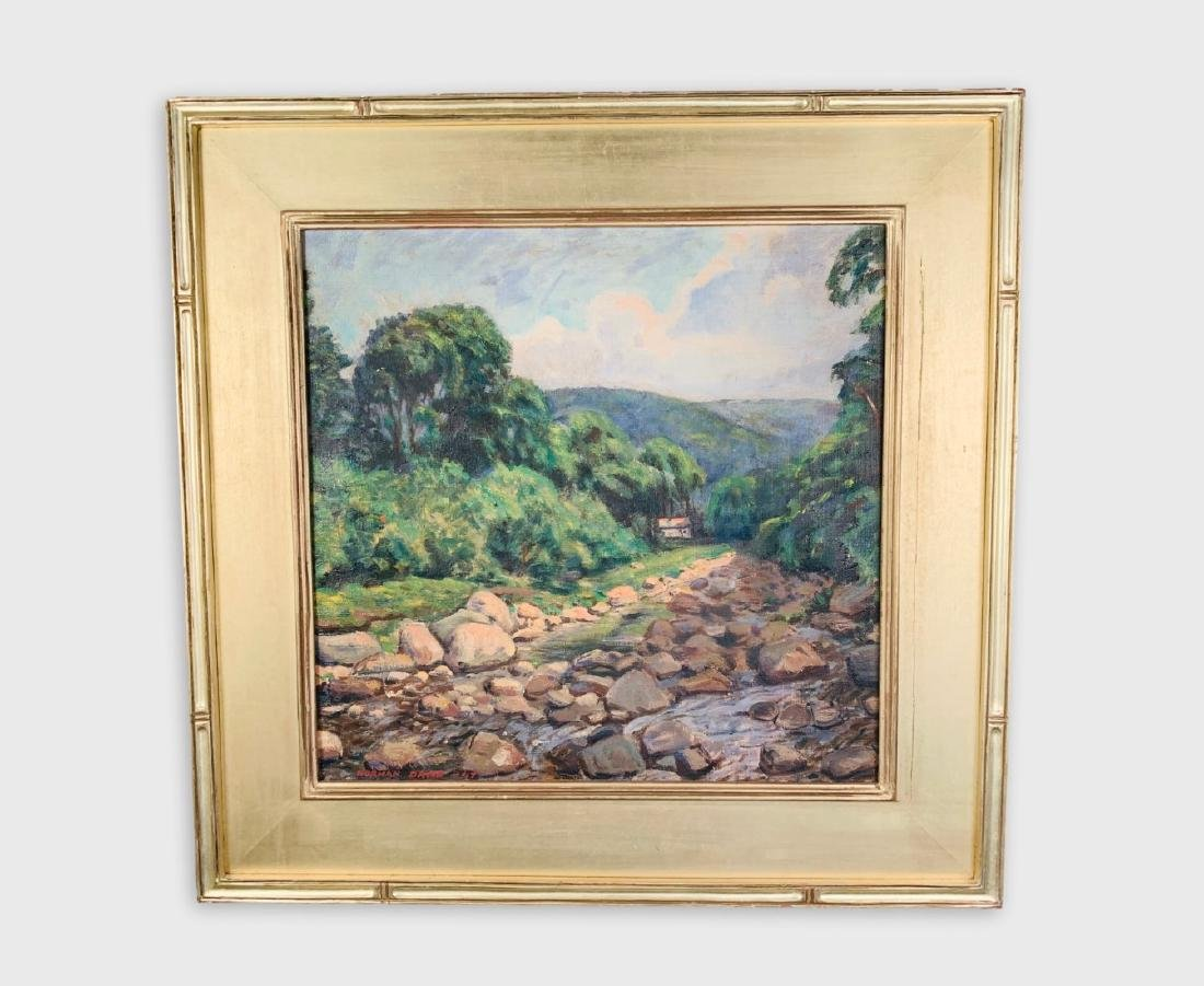 Landscape Painting, Signed Norman David