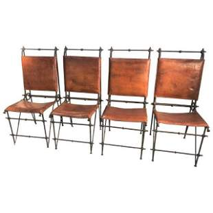 Set of 4 Ilana Goor (Attributed) Dining Chairs