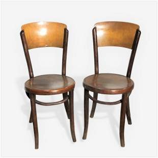 Pair of Thonet Style Bentwood Chairs