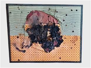Large Mixed Media, Burned Fabrics