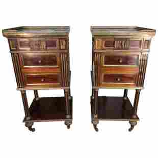 Pair of French Napoleon III Nightstands