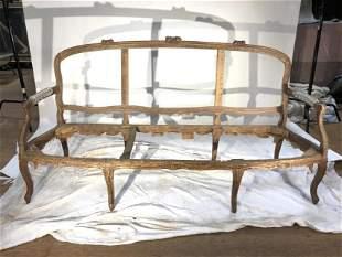Louis XV Period Sofa Frame, 18th C.