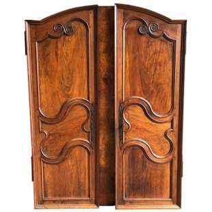 Pair of French Louis XV Arched-Top Cabinet Doors, 18th