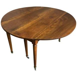 Directoire Period Drop Leaf Dining Table, circa 1800