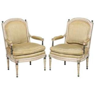 Pair of Signed Fauteuils, George Jacob
