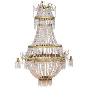 French Louis XVI Crystal Chandelier, C. 1790