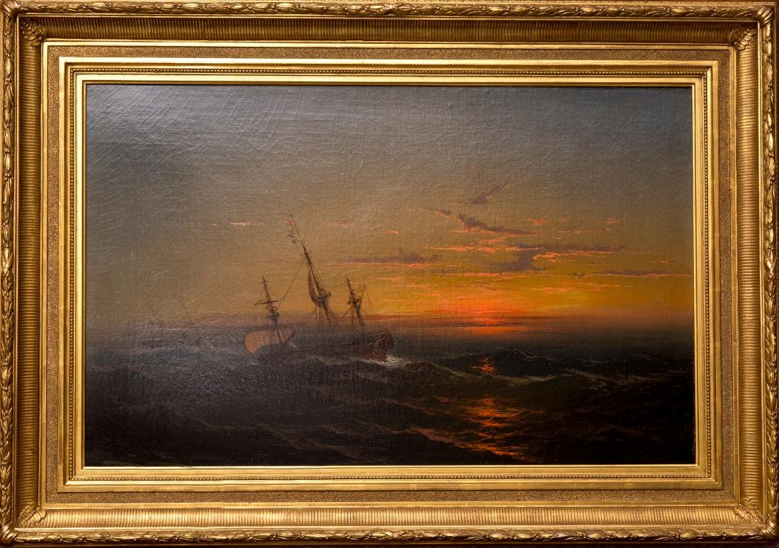 Seascape With Two Ships