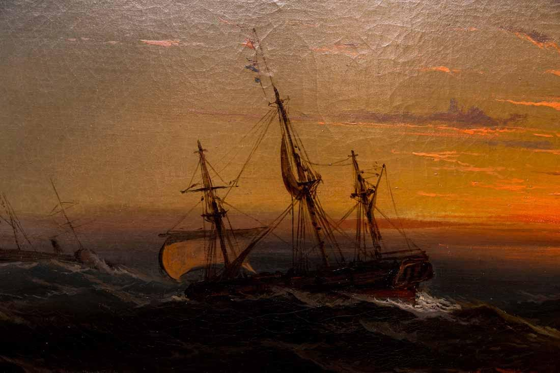Seascape With Two Ships - 4
