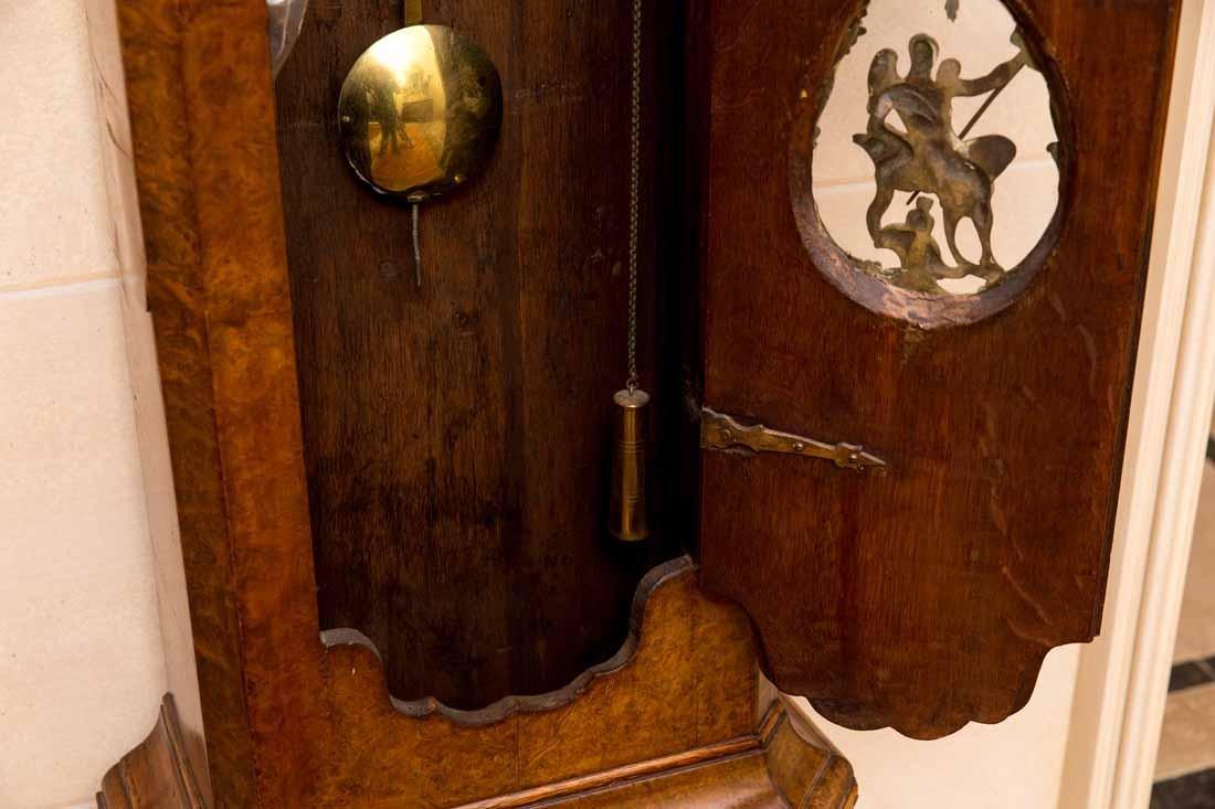 Dutch  18th c Tallcase Clock - 8