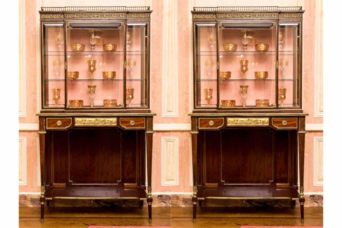 Pair of French Vitrines