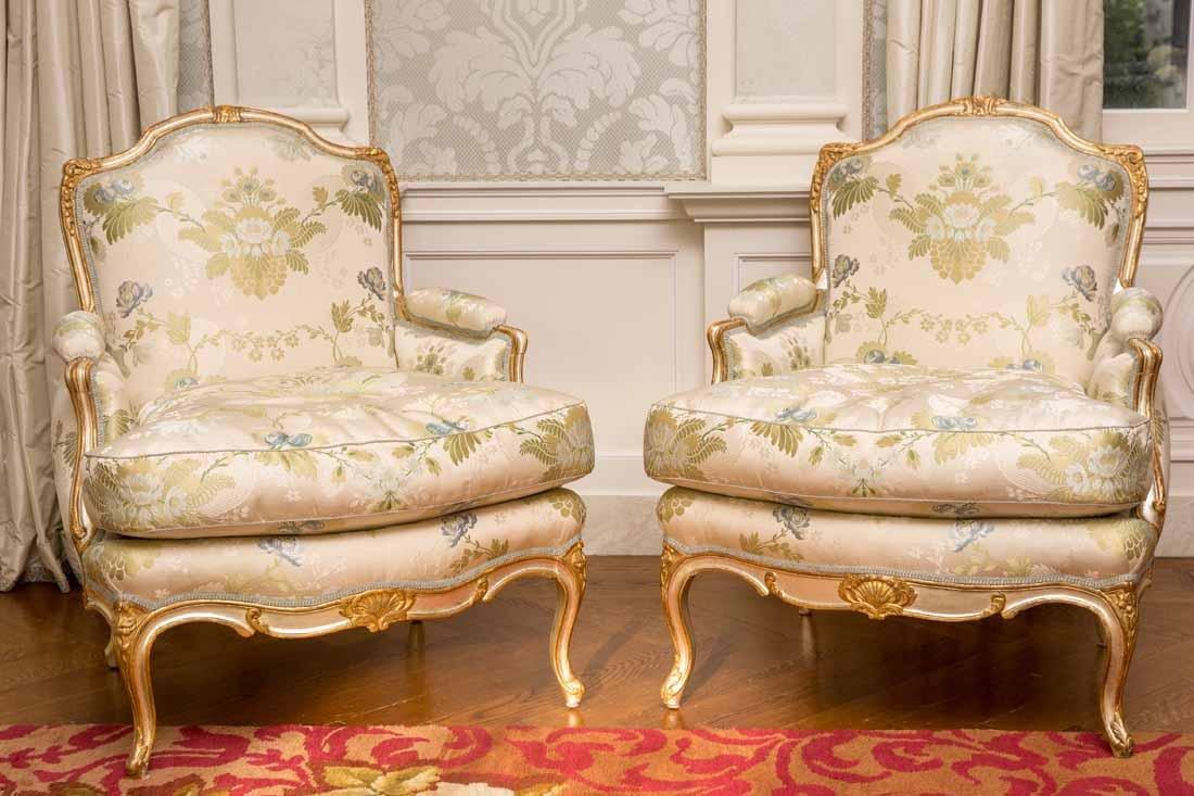 Pair of Louis XV Bergeres