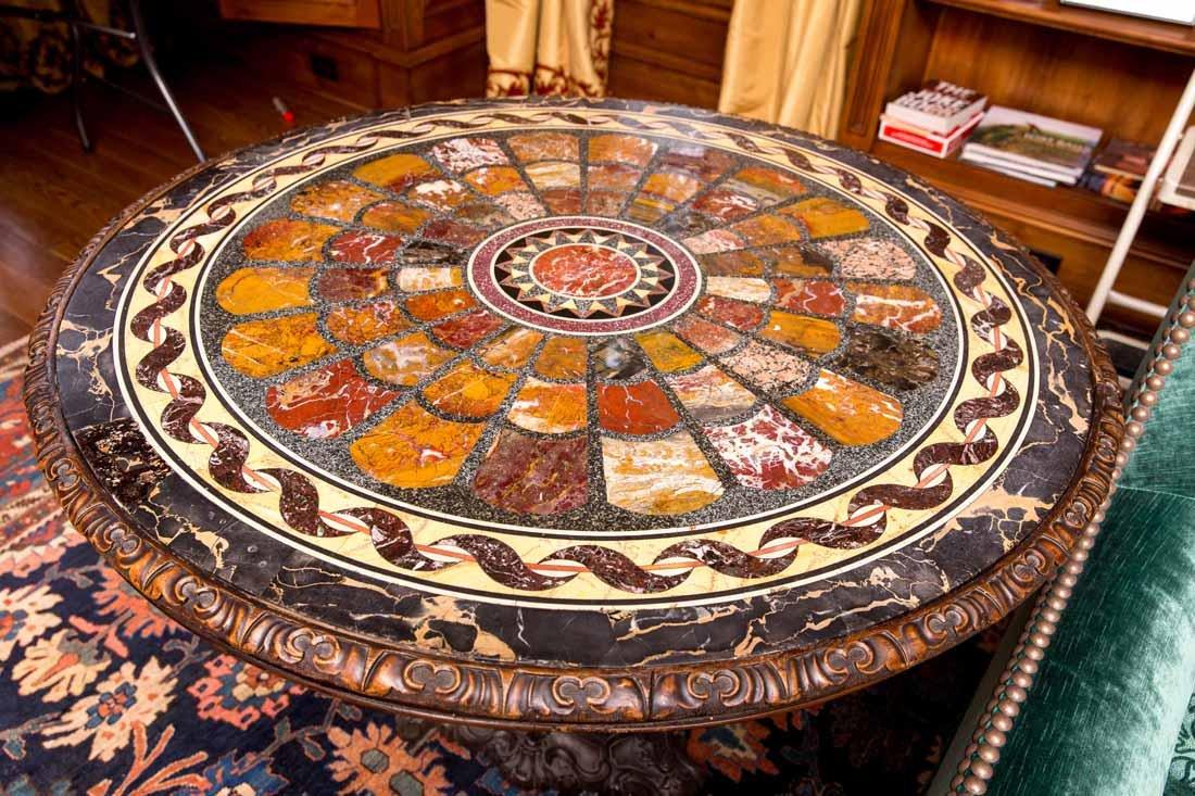 Antique Pietra Dura Round Table