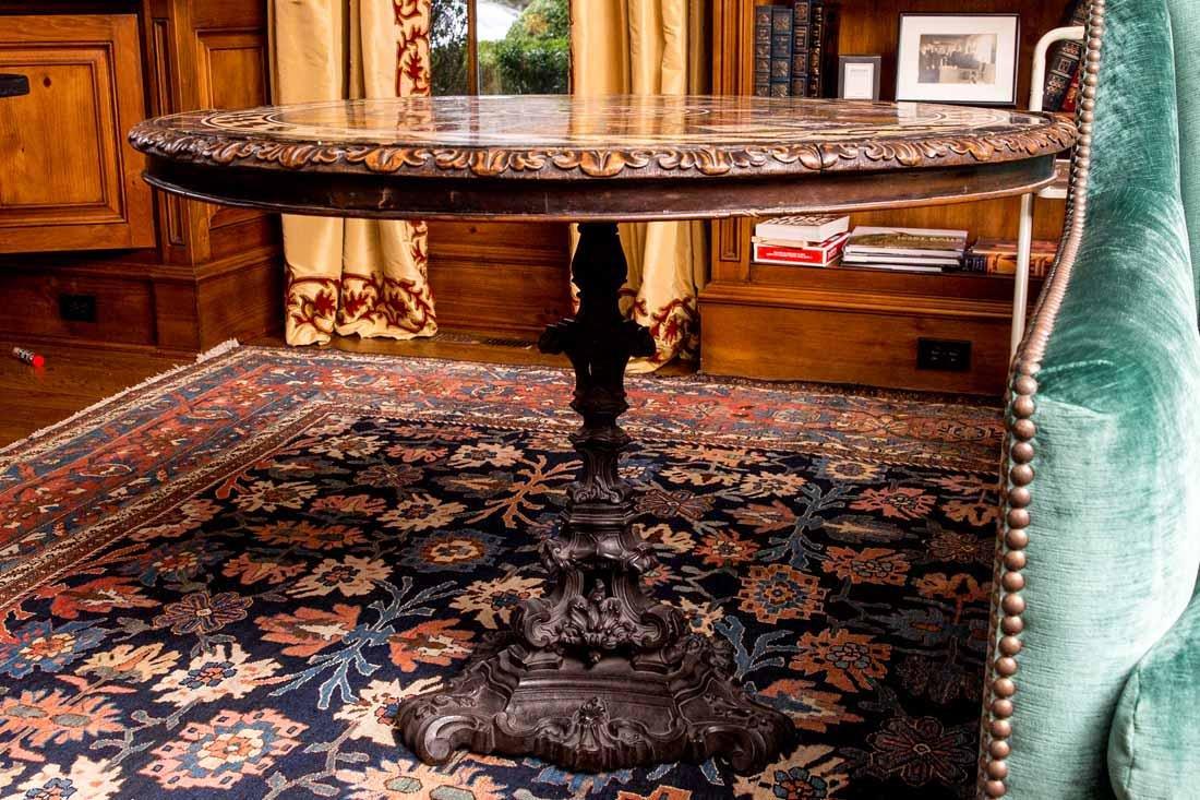 Antique Pietra Dura Round Table - 2